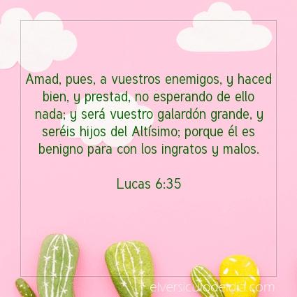 Imagen El versiculo del dia Lucas 6:35