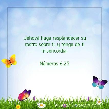 Imagen El versiculo del dia Números 6:25
