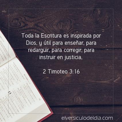 Imagen El versiculo del dia 2 Timoteo 3:16