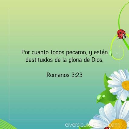 Imagen El versiculo del dia Romanos 3:23