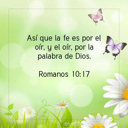Imagen El versiculo del dia Romanos 10:17