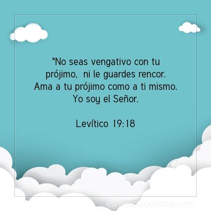 Imagen El versiculo del dia Levítico 19:18