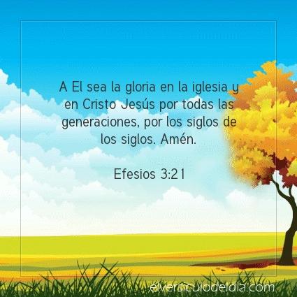 Imagen El versiculo del dia Efesios 3:21