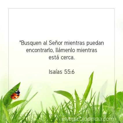Imagen El versiculo del dia Isaías 55:6