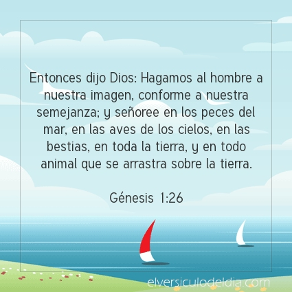 Imagen El versiculo del dia Génesis 1:26
