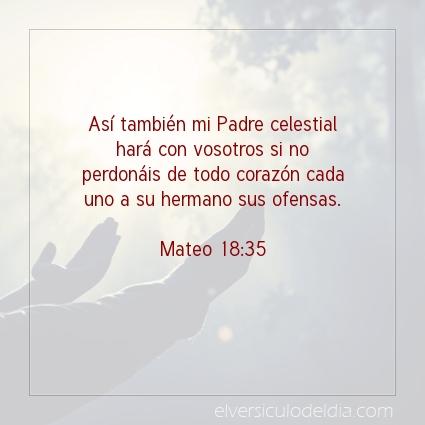 Imagen El versiculo del dia Mateo 18:35