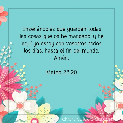 Imagen El versiculo del dia Mateo 28:20