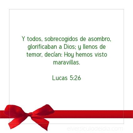 Imagen El versiculo del dia Lucas 5:26