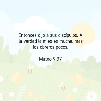 Imagen El versiculo del dia Mateo 9:37