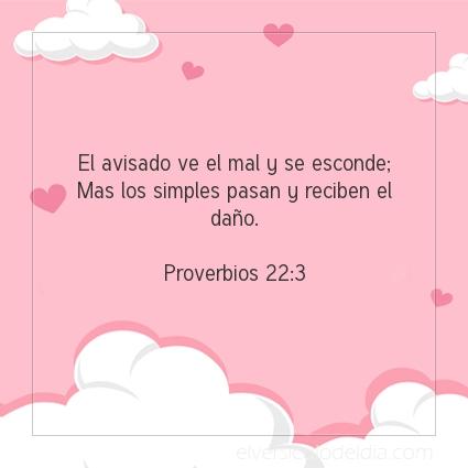 Imagen El versiculo del dia Proverbios 22:3