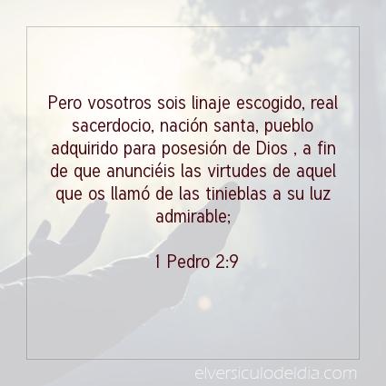 Imagen El versiculo del dia 1 Pedro 2:9