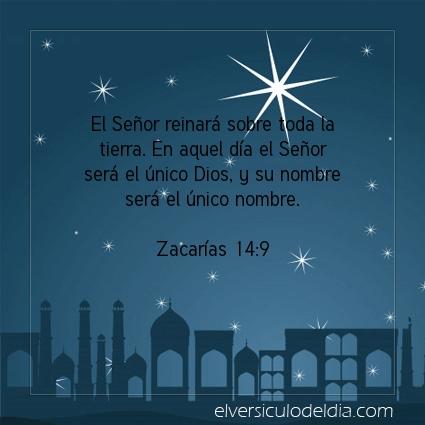 Imagen El versiculo del dia Zacarías 14:9
