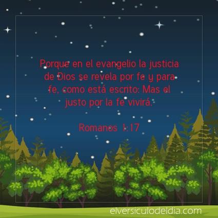 Imagen El versiculo del dia Romanos 1:17