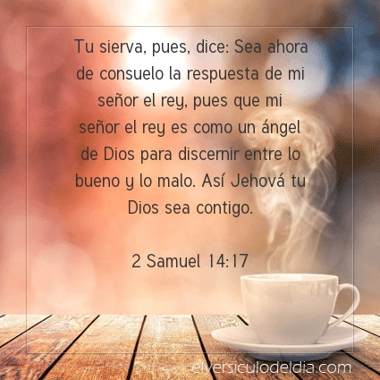 Imagen El versiculo del dia 2 Samuel 14:17