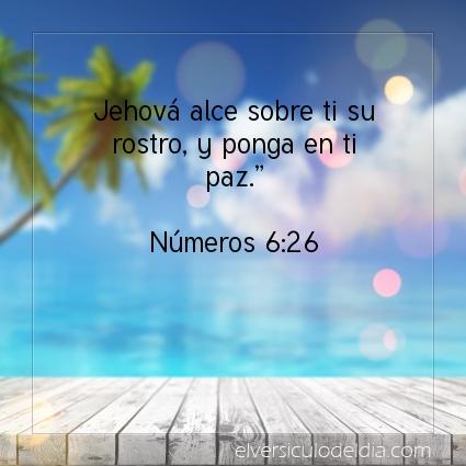 Imagen El versiculo del dia Números 6:26