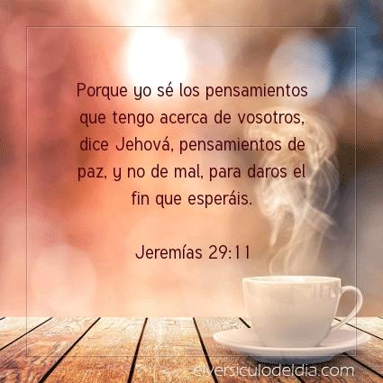 Imagen El versiculo del dia Jeremías 29:11