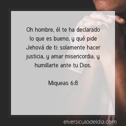 Imagen El versiculo del dia Miqueas 6:8