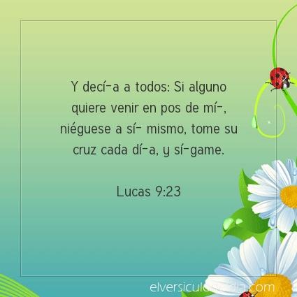 Imagen El versiculo del dia Lucas 9:23