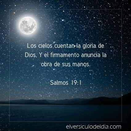 Imagen El versiculo del dia Salmos 19:1