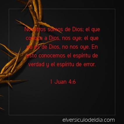 Imagen El versiculo del dia 1 Juan 4:6
