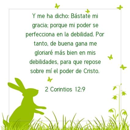 Imagen El versiculo del dia 2 Corintios 12:9