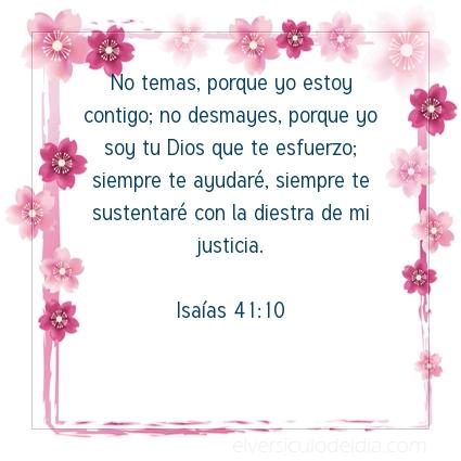 Imagen El versiculo del dia Isaías 41:10