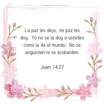 Imagen El versiculo del dia Juan 14:27