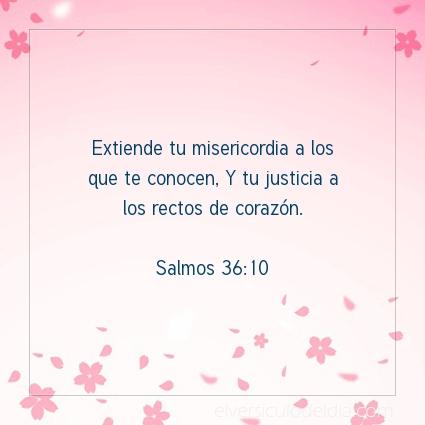 Imagen El versiculo del dia Salmos 36:10