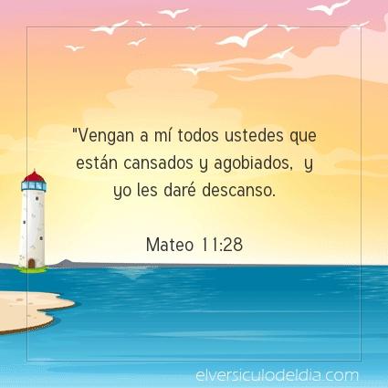 Imagen El versiculo del dia Mateo 11:28