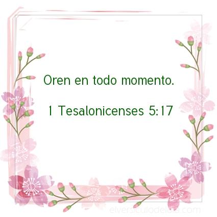 Imagen El versiculo del dia 1 Tesalonicenses 5:17
