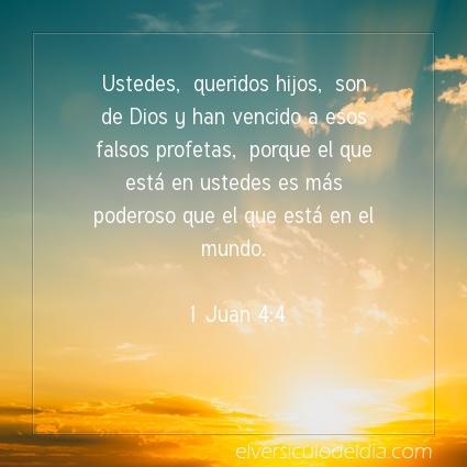Imagen El versiculo del dia 1 Juan 4:4