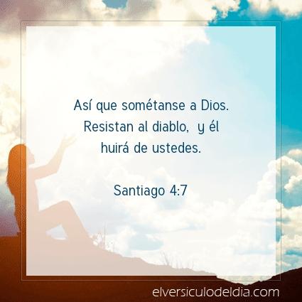 Imagen El versiculo del dia Santiago 4:7