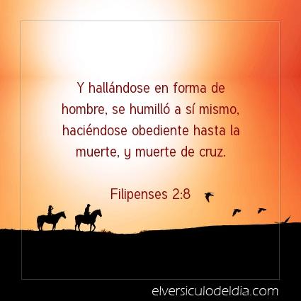 Imagen El versiculo del dia Filipenses 2:8