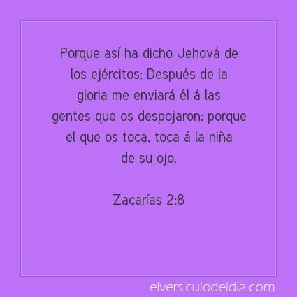 Imagen El versiculo del dia Zacarías 2:8