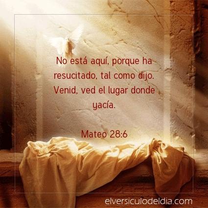 Imagen El versiculo del dia Mateo 28:6