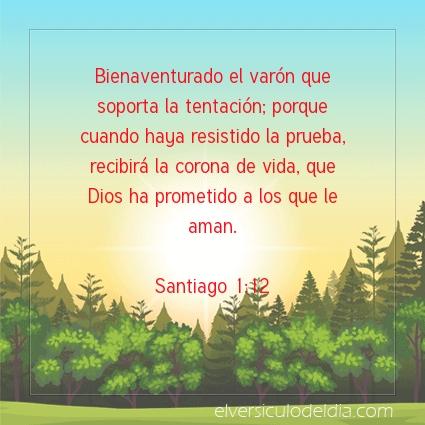 Imagen El versiculo del dia Santiago 1:12