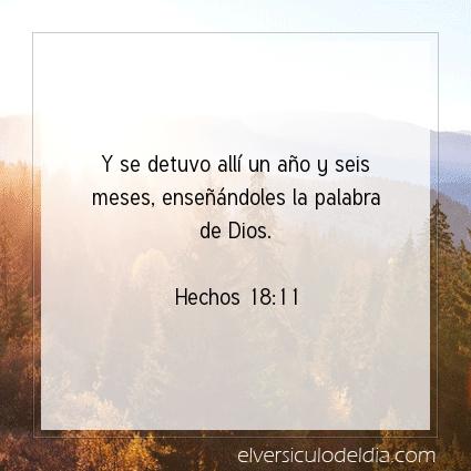 Imagen El versiculo del dia Hechos 18:11