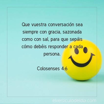 Imagen El versiculo del dia Colosenses 4:6