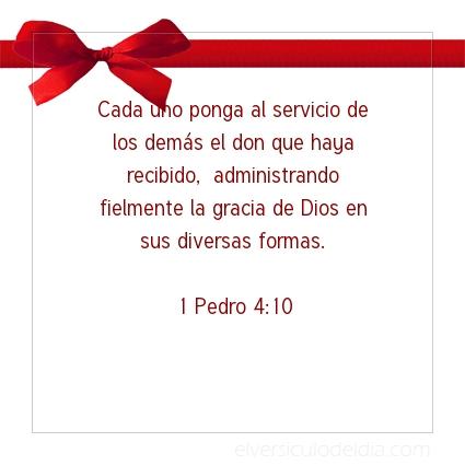Imagen El versiculo del dia 1 Pedro 4:10
