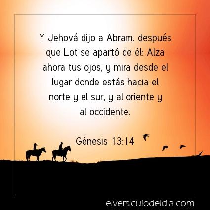 Imagen El versiculo del dia Génesis 13:14