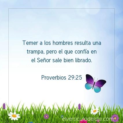 Imagen El versiculo del dia Proverbios 29:25