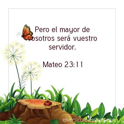 Imagen El versiculo del dia Mateo 23:11