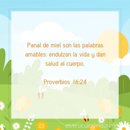 Imagen El versiculo del dia Proverbios 16:24