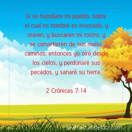 Imagen El versiculo del dia 2 Crónicas 7:14