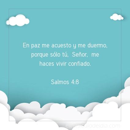 Imagen El versiculo del dia Salmos 4:8