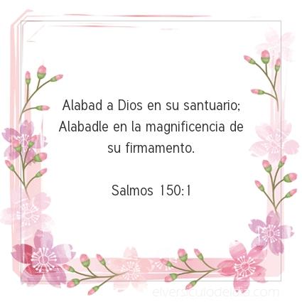Imagen El versiculo del dia Salmos 150:1