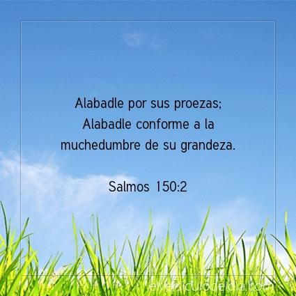 Imagen El versiculo del dia Salmos 150:2