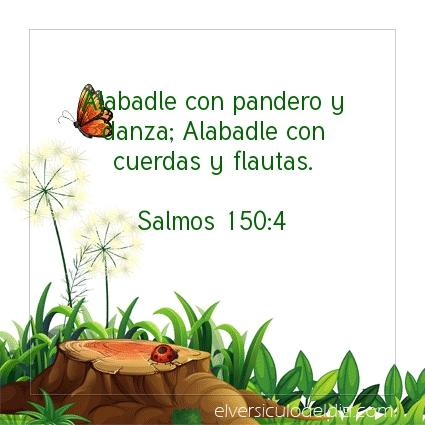 Imagen El versiculo del dia Salmos 150:4