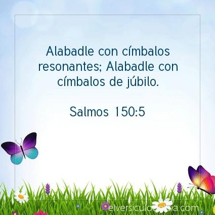 Imagen El versiculo del dia Salmos 150:5