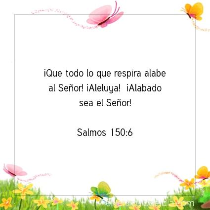 Imagen El versiculo del dia Salmos 150:6